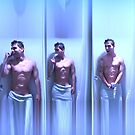 Guy in the shower by Digital Editor .