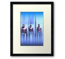 Guy in the shower Framed Print