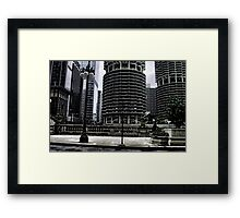 Round Skyscrapers in Chicago Framed Print