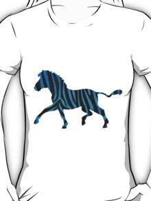 Zebra Black and Blue Print T-Shirt