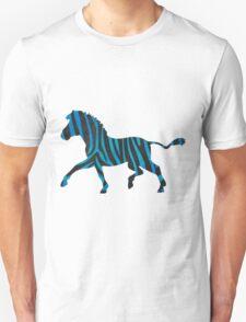 Zebra Black and Blue Print Unisex T-Shirt