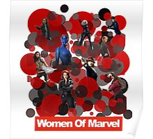 Women of Marvel unite Poster