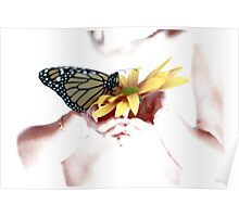 Butterfly in Hand Poster