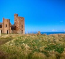 New Slains Castle at Moonlight (Cruden Bay, Aberdeenshire, Scotland) by Yannik Hay