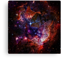 Kitty Galaxy Canvas Print