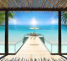 Postcard from the Maldives - Very rare Sunrise by Brünø Beach .