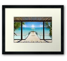 Postcard from the Maldives - Very rare Sunrise Framed Print