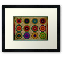 Colourful canvas Framed Print