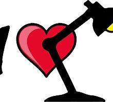 I love I heart desk lamp bulb by SofiaYoushi