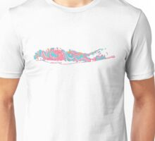 Long Island Outline Paisley Pattern  Unisex T-Shirt