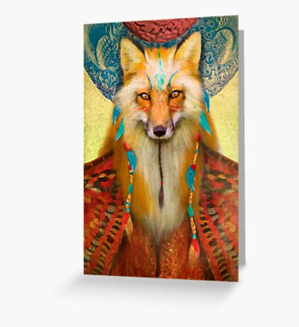 Wise Fox Greeting Card