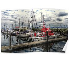 Colors of a Marina ~ HDR Series ~  Poster
