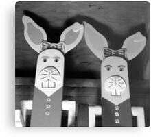 Creepy bunnies Metal Print