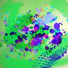 Abstract in Green by Baye Hunter