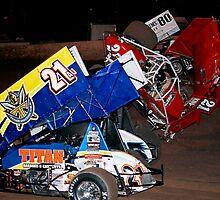 Sprint car flip by racefan24