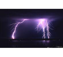 Lightning Puget Sound Photographic Print