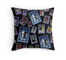 Persona Cards Scatter! Throw Pillow