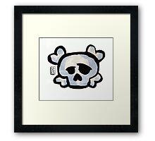 Skull Love Framed Print