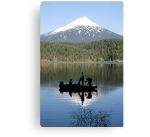 Willow Lake Weekend Canvas Print