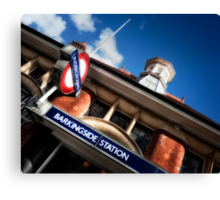 Barkingside Tube Station Canvas Print