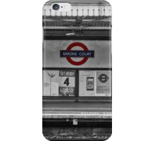 Barons Court Tube Station iPhone Case/Skin