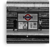 Barons Court Tube Station Canvas Print