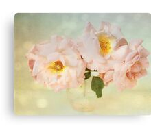Pretty Pink Antique Roses Canvas Print