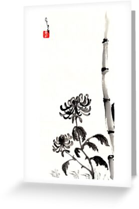 Chrysanthemum & Bamboo by Origa