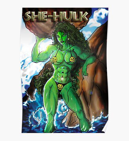 SHE - HULK at the beach Poster