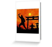 Ninja on the attack Greeting Card