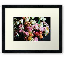 mini Tea Roses Bouquet Framed Print