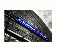 Blackfriars Tube Station Art Print