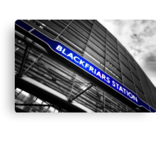 Blackfriars Tube Station Canvas Print