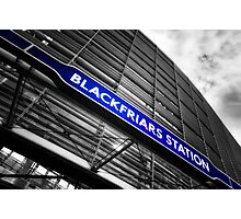 Blackfriars Tube Station Photographic Print