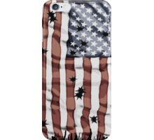 Faded American flag iPhone Case/Skin