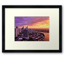 Gilded City Framed Print