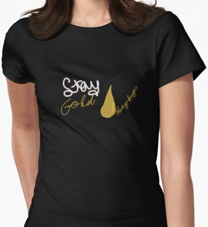 avaa stay gold ponyboy Womens Fitted T-Shirt