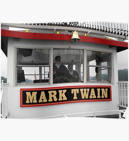 The Mark Twain River Boat Poster