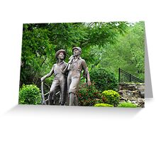 Huck Finn and Tom Sawyer Greeting Card