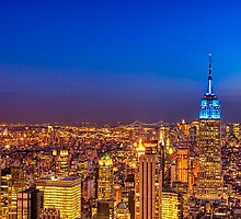 View From The Top of The Rock - New York City by Mark Tisdale