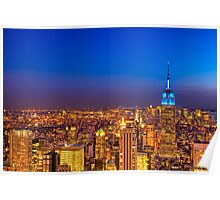 View From The Top of The Rock - New York City Poster