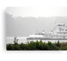 Mark Twain River Boat on the Mississippi Canvas Print