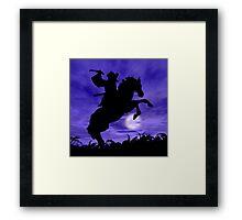Samurai on Horse Framed Print