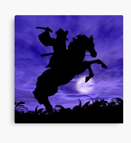 Samurai on Horse Canvas Print