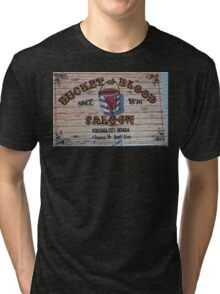 Bucket of Blood Saloon 1876 Tri-blend T-Shirt