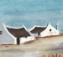 "My Pastel ""Cape Cottages""... South Africa Sticker"