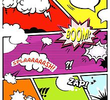 onomatopoeia boom zap splash pop art comic book  by SofiaYoushi
