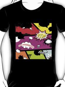 onomatopoeia boom zap splash pop art comic book  T-Shirt