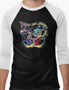 Down the Rabbit Hole - Black Men's Baseball ¾ T-Shirt