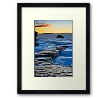 Trebarwith Strand twilight Framed Print